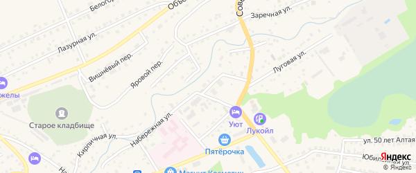 Набережная улица на карте Белокурихи с номерами домов