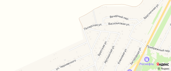 Иркутская улица на карте Белокурихи с номерами домов