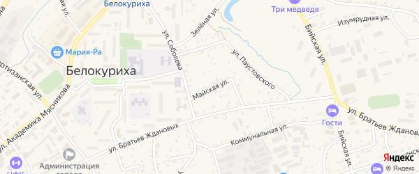 Майская улица на карте Белокурихи с номерами домов