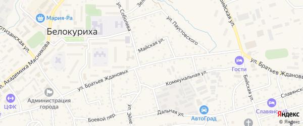 Улица Братьев Ждановых на карте Белокурихи с номерами домов