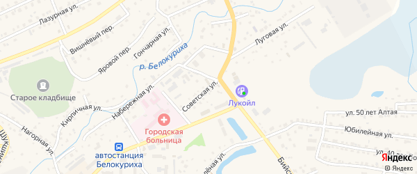 Советская улица на карте Белокурихи с номерами домов