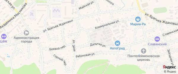 Таманский переулок на карте Белокурихи с номерами домов