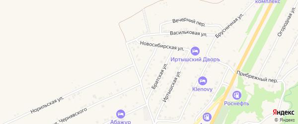 Барнаульская улица на карте Белокурихи с номерами домов