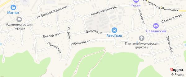 Рябиновая улица на карте садового некоммерческого товарищества N 11 с номерами домов