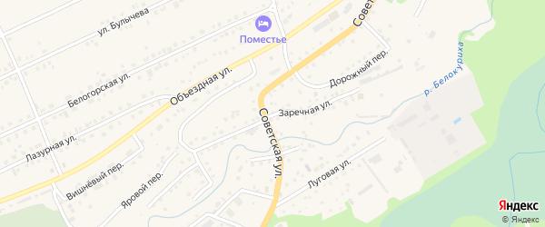 Заречная улица на карте Белокурихи с номерами домов