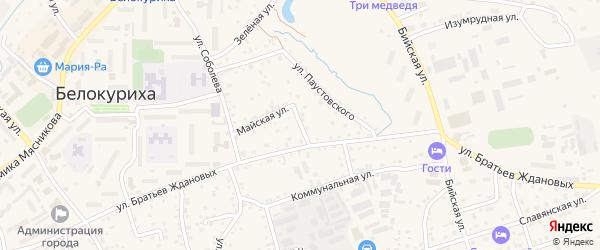Октябрьский переулок на карте Белокурихи с номерами домов