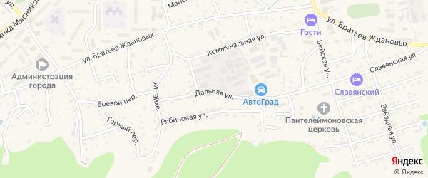 Дальняя улица на карте Белокурихи с номерами домов