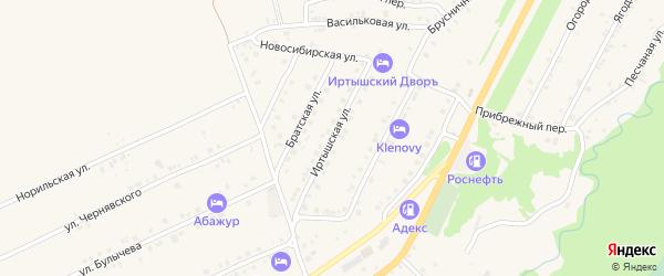 Иртышская улица на карте Белокурихи с номерами домов