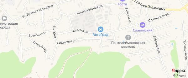 Рябиновая улица на карте Белокурихи с номерами домов