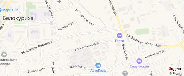 Промышленный переулок на карте Белокурихи с номерами домов