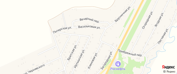 Новосибирская улица на карте Белокурихи с номерами домов
