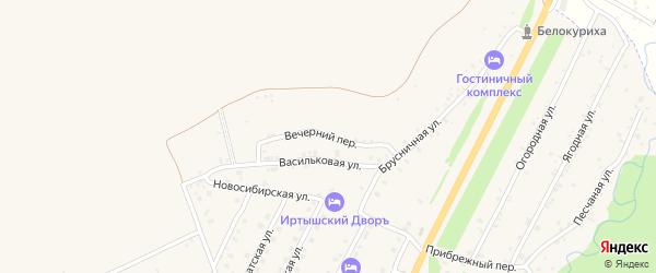 Вечерний переулок на карте Белокурихи с номерами домов