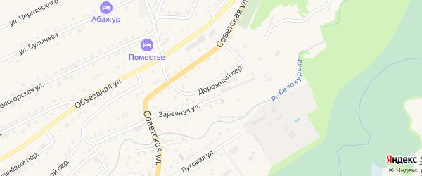Дорожный переулок на карте Белокурихи с номерами домов
