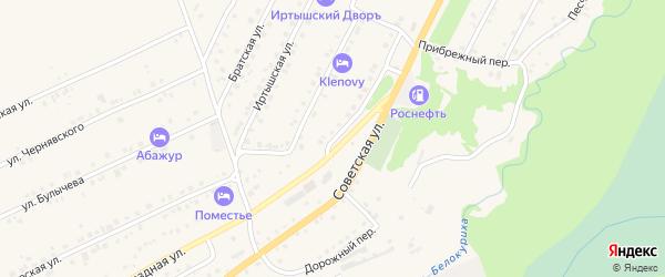 Загородная улица на карте Белокурихи с номерами домов