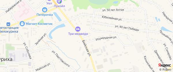 Короткий переулок на карте Белокурихи с номерами домов