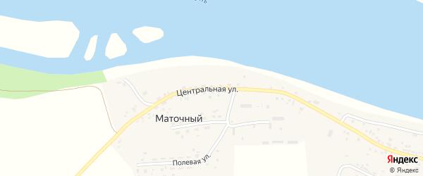 Центральная улица на карте Маточного поселка с номерами домов