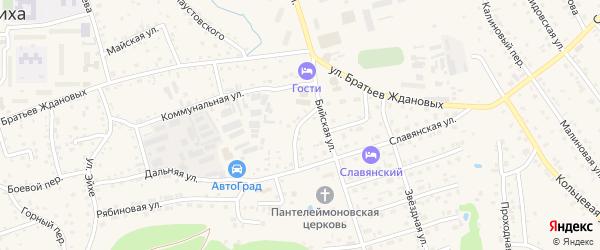 Покровский переулок на карте Белокурихи с номерами домов