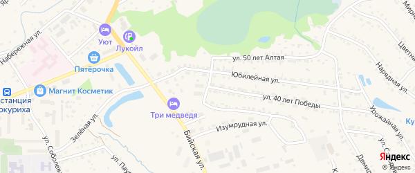 Родниковый переулок на карте Белокурихи с номерами домов