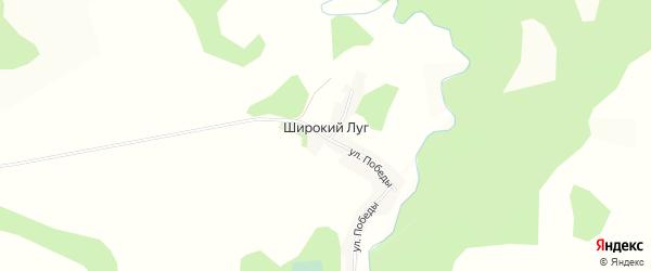 Карта поселка Широкого Луга в Алтайском крае с улицами и номерами домов