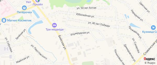 Изумрудная улица на карте Белокурихи с номерами домов