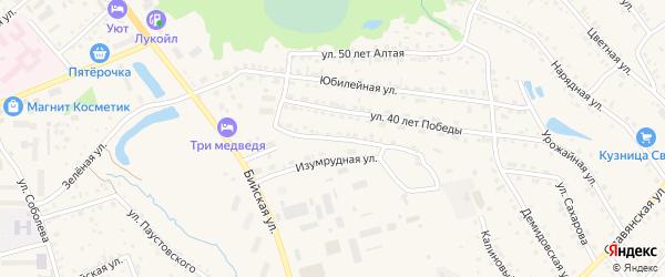 Комсомольская улица на карте Белокурихи с номерами домов