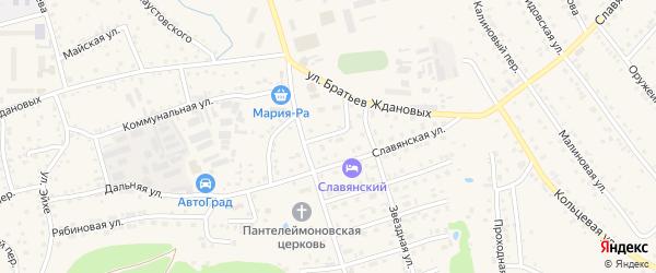 Трудовой переулок на карте Белокурихи с номерами домов