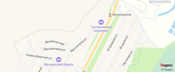 Брусничная улица на карте Белокурихи с номерами домов