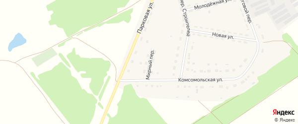 Мирный переулок на карте Октябрьского поселка с номерами домов