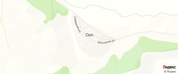Карта села Оро в Алтае с улицами и номерами домов