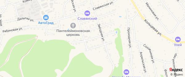 Рождественская улица на карте Белокурихи с номерами домов