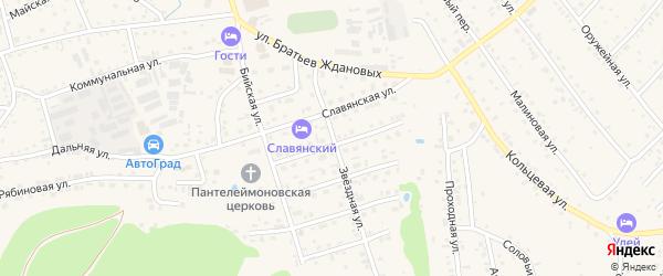 Звездная улица на карте Белокурихи с номерами домов