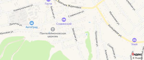 Воскресенская улица на карте Белокурихи с номерами домов