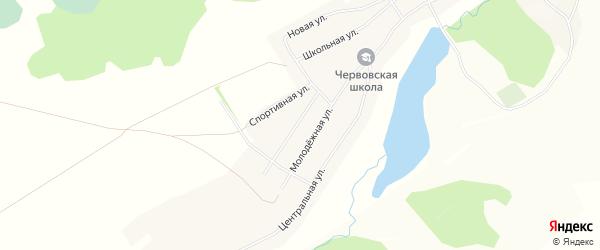 Карта села Червово в Алтайском крае с улицами и номерами домов