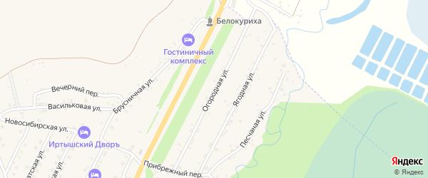 Огородная улица на карте Белокурихи с номерами домов