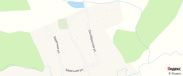 Октябрьская улица на карте села Борисово с номерами домов