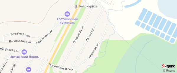 Ягодная улица на карте Белокурихи с номерами домов
