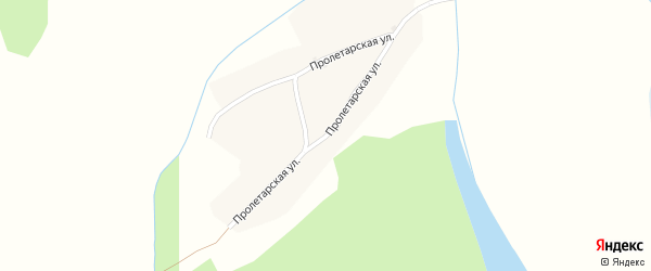 Пролетарская улица на карте села Тоурака с номерами домов