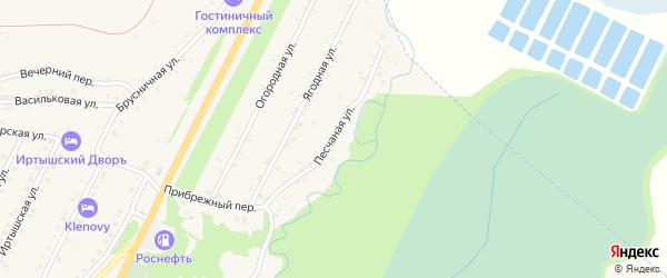 Песчаная улица на карте Белокурихи с номерами домов