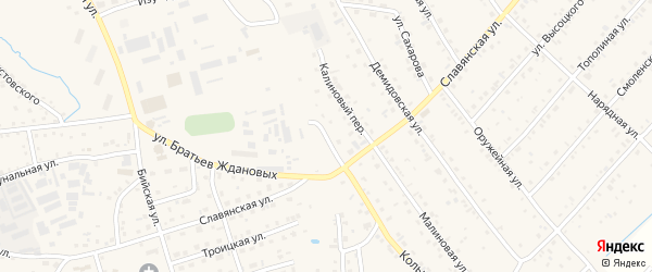 Мостовой переулок на карте Белокурихи с номерами домов