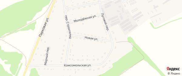 Новая улица на карте Октябрьского поселка с номерами домов