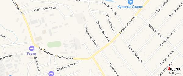 Калиновый переулок на карте Белокурихи с номерами домов