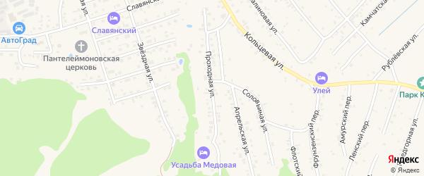 Проходная улица на карте Белокурихи с номерами домов