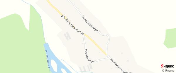 Улица Заветы Ильича на карте села Тоурака с номерами домов