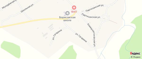 Улица Гагарина на карте села Борисово с номерами домов