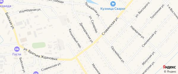 Демидовская улица на карте Белокурихи с номерами домов