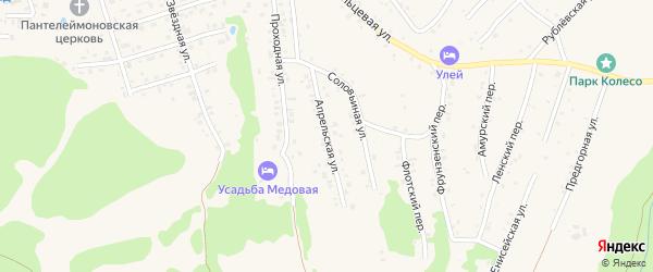 Апрельская улица на карте Белокурихи с номерами домов