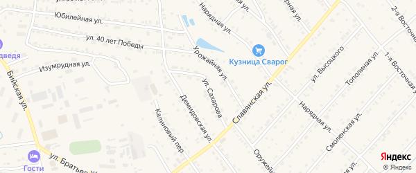 Улица Сахарова на карте Белокурихи с номерами домов