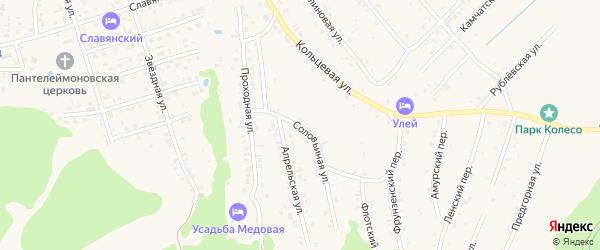 Соловьиная улица на карте Белокурихи с номерами домов