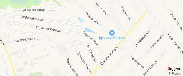 Урожайная улица на карте Белокурихи с номерами домов