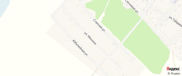 Улица Михина на карте Мирного поселка с номерами домов